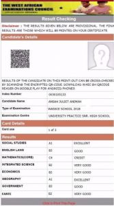 Upgrade waec result